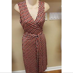 Diane Von Furstenberg Sleeveless Wrap Dress     10